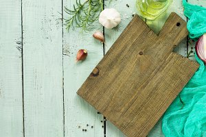 Empty cutting board.