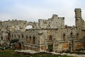 Ruins of the Church of Saint Simeon Stylites, Idlib Syria