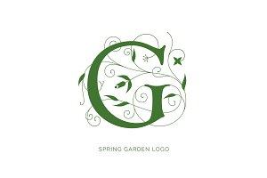 Floral G Logo Design