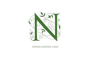 Floral N Logo Design