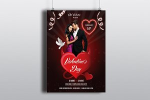 Valentines Day Party Flyer -V724