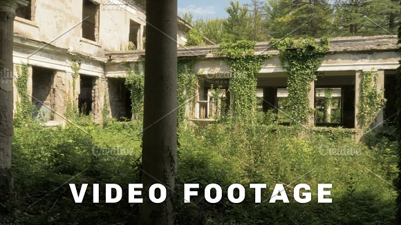 Walking in the abandoned building in Tskaltubo, Georgia