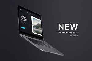 MacBook Pro 2017 Flying Mockup