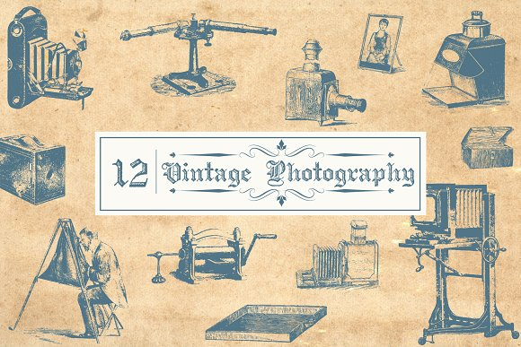 Vector Vintage Photography in Objects