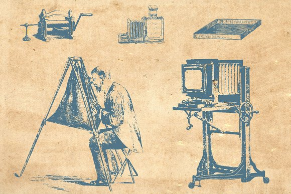Vector Vintage Photography in Objects - product preview 1
