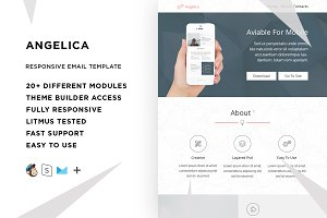 Angelica – Email template + Builder