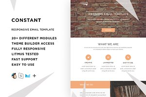 Constant – Email template + Builder
