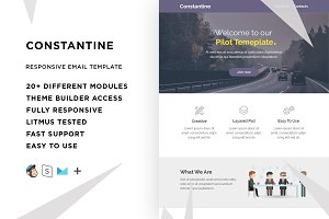 Constantine – Email template+Builder