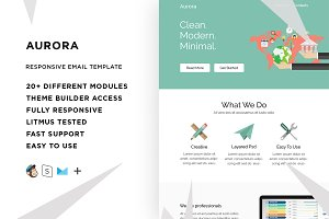Aurora – Email template + Builder