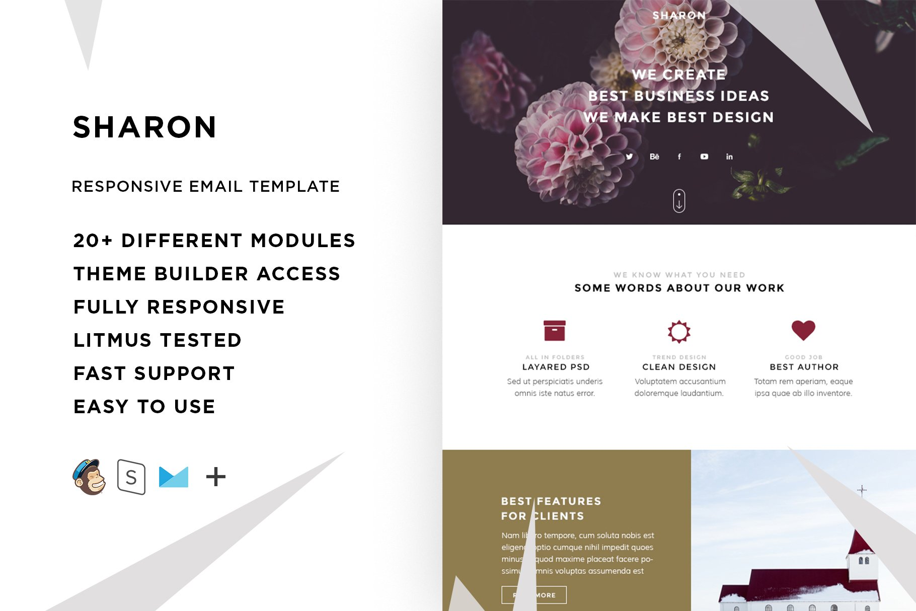 Sharon – Email template + Builder ~ Email Templates ~ Creative Market