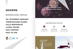 Sharon – Email template + Builder