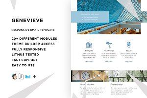 Genevieve – Email template + Builder