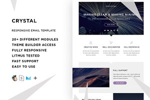 Crystal – Email template + Builder
