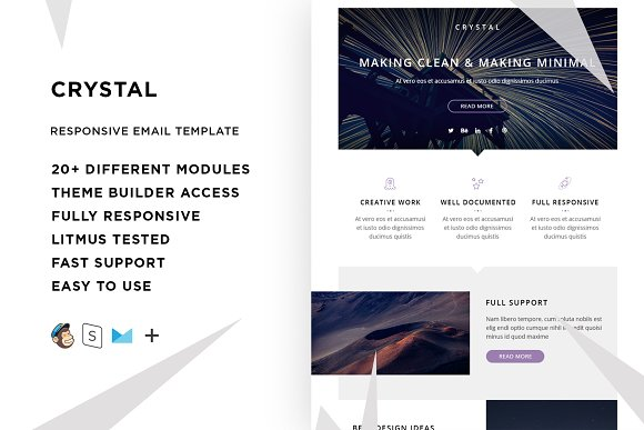 crystal email template builder email templates creative market