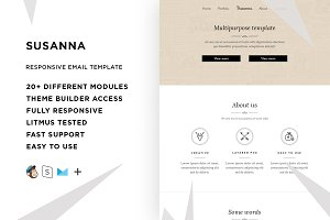 Susanna – Email template + Builder
