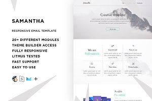 Samantha – Email template + Builder