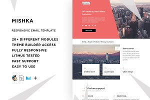 Mishka – Email template + Builder