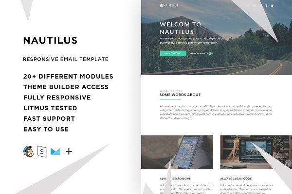 Nautilus – Responsive Email templat…