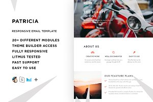 Patricia – Email template + Builder