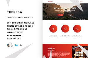 Theresa – Email template + Builder
