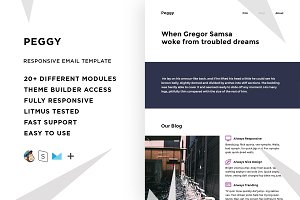 Peggy – Email template + Builder