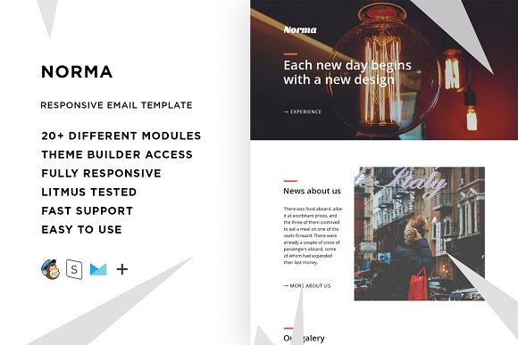 Norma – Email template + Builder in Email Templates