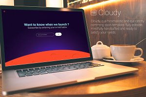 Cloudy - Comming Soon PSD