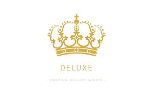 Vintage Crown Logo Design