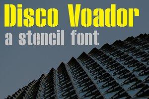 Disco Voador Stencil Font