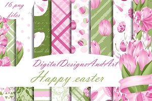Pink easter paper