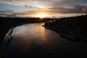 Douro River in Portugal at Sunset