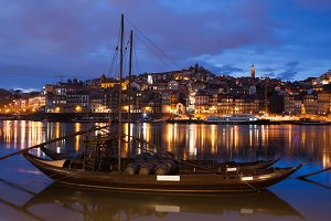 Rabelo Boat on Douro River in Porto