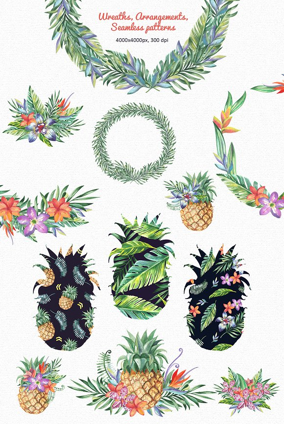 Tropic Bloom Collection in Illustrations - product preview 2