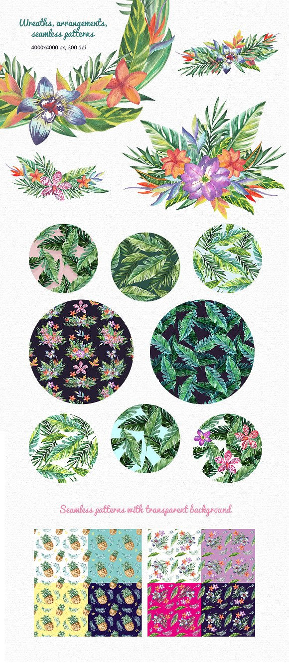 Tropic Bloom Collection in Illustrations - product preview 3