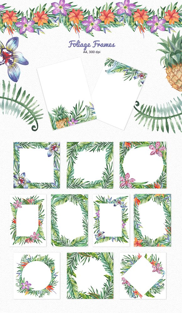 Tropic Bloom Collection in Illustrations - product preview 4