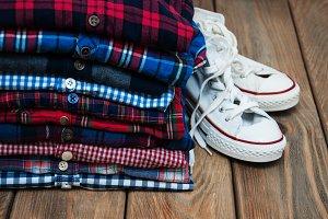 Checkered  shirts