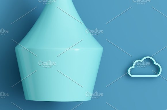 Set of 3 mockup Room airplane kids in Product Mockups - product preview 6