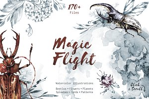 """Magic Flight"" Watercolor collection"
