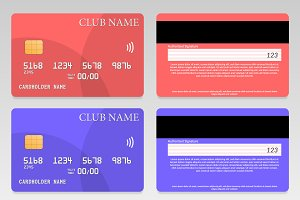 Vector Credit Card Pack (3 colors)