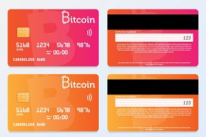 Credit Card Design, Bitcoin Pay
