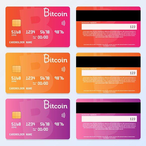 credit card design bitcoin pay card templates creative market