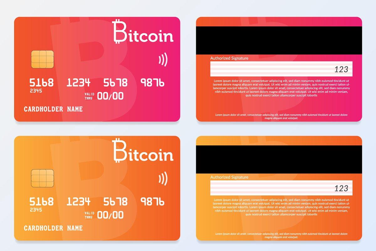 Credit Card Design, Bitcoin Pay