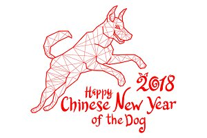Red Dog symbol 2018 Chinese new year
