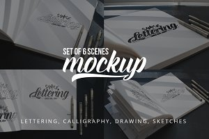 Lettering & Drawing Mockup Set 3