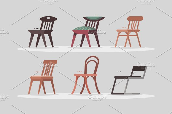 Set of chairs for home and office
