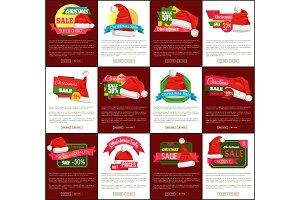 Twelve Christmas Sale Half Price Promo Posters