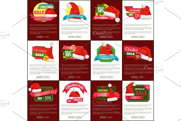 Twelve Christmas Sale Half Price Promo Posters