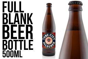 Full knocked out beer bottle 500ML