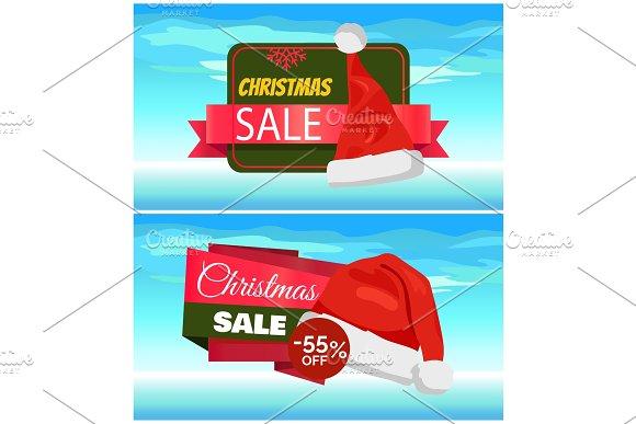 Premium Quality Half Price Christmas Sale Posters