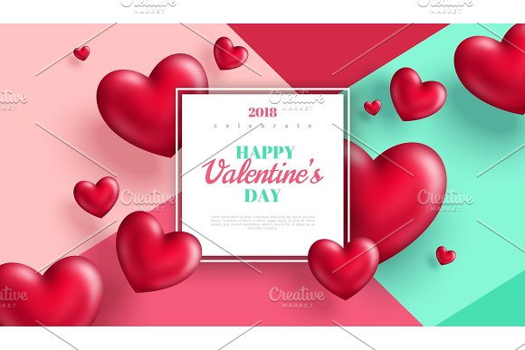 Valentines day banner or greeting card in Illustrations